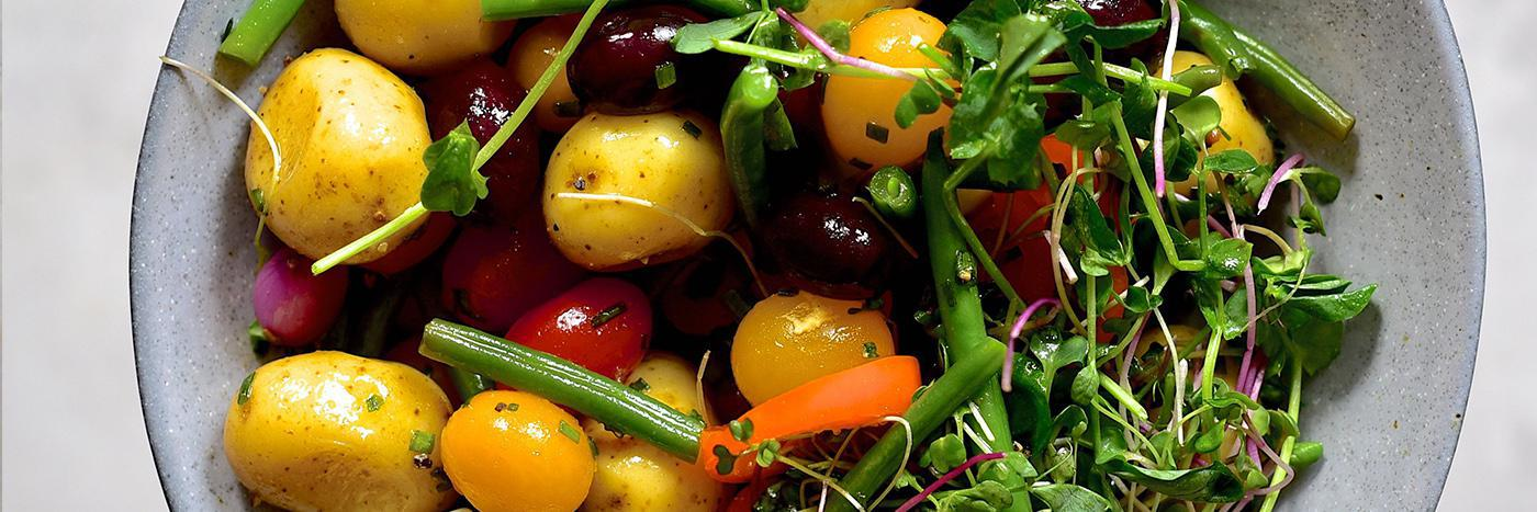 Salad in a jar: Potato