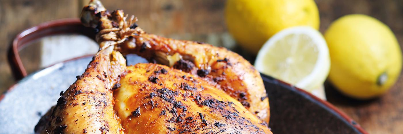 Roast chicken with shawarma spices
