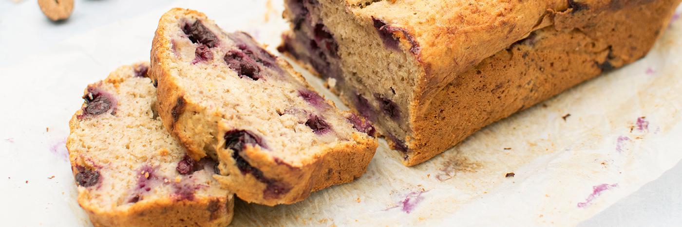 Banana & blueberry breakfast loaf
