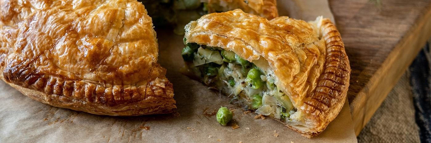 Spring greens pithivier