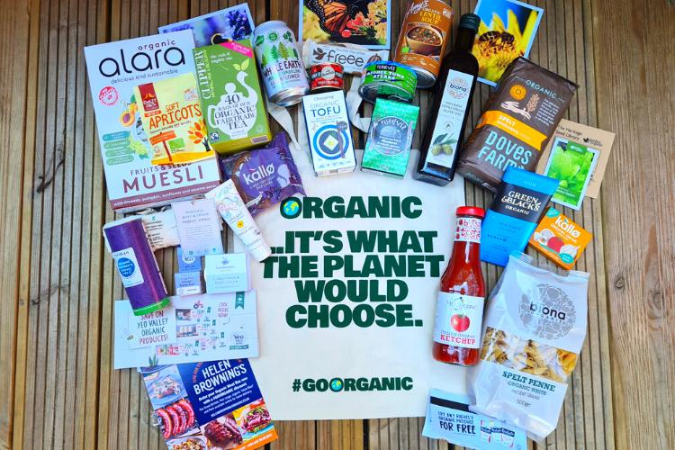 WIN one of the 50 bags full of Organic Goodies!